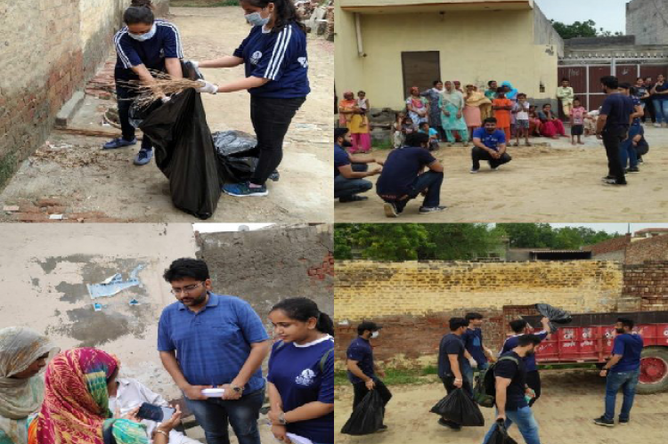 Community service under the Swachh Bharat Summer Internship programme