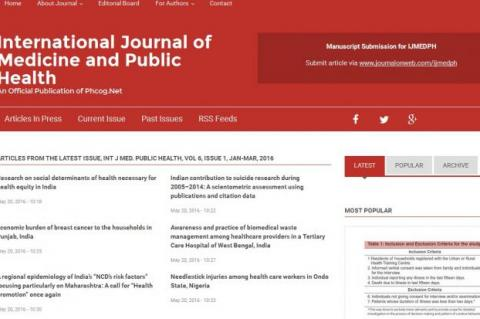 International Journal of Medicine and Public Health