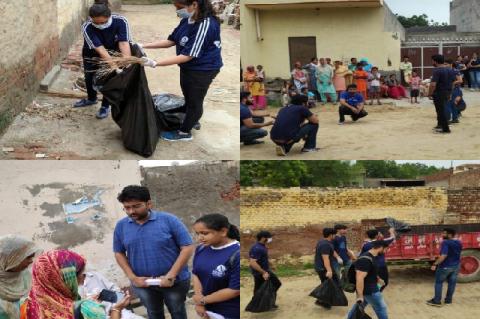 Community service under the Swachh Bharat Summer Internship programme