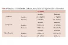 Cefepime combined with Amikacin, Meropenem and Ciprofloxacin' combination